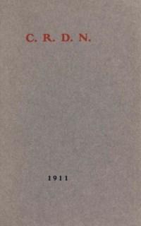 [GIDE, André (1869-1951)]. C.R.D.N.. Sans lieu [Bruges: The St Catherine Press Ltd], 1911. In-8 (187 x 120 mm). Reliure janséniste signée P.-L. Martin, maroquin bleu gris, dos à nerfs, doublure et gardes de box ocre, filet doré sur les coupes, tranches dorées, couverture et dos conservés, chemise et étui assortis.