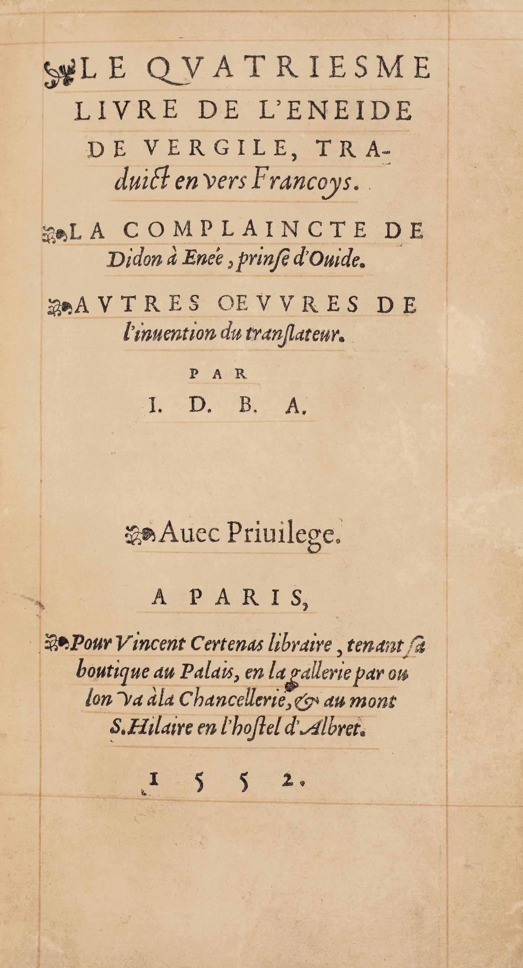 Joachim DU BELLAY (vers 1522-1