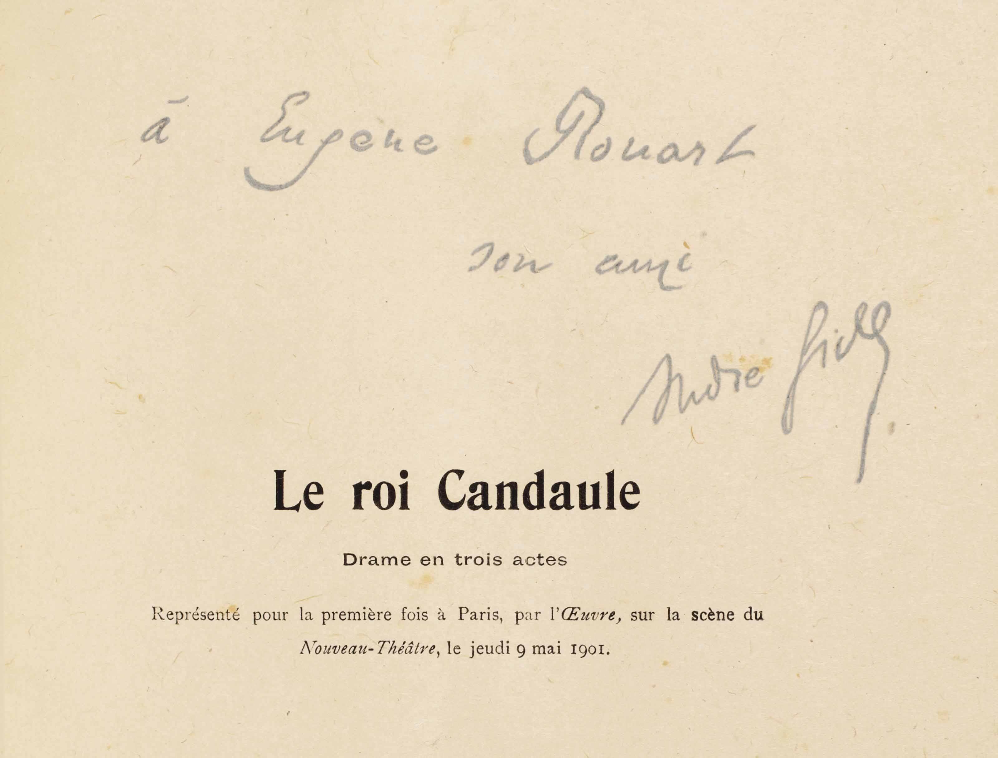André GIDE (1869-1951). Le Roi