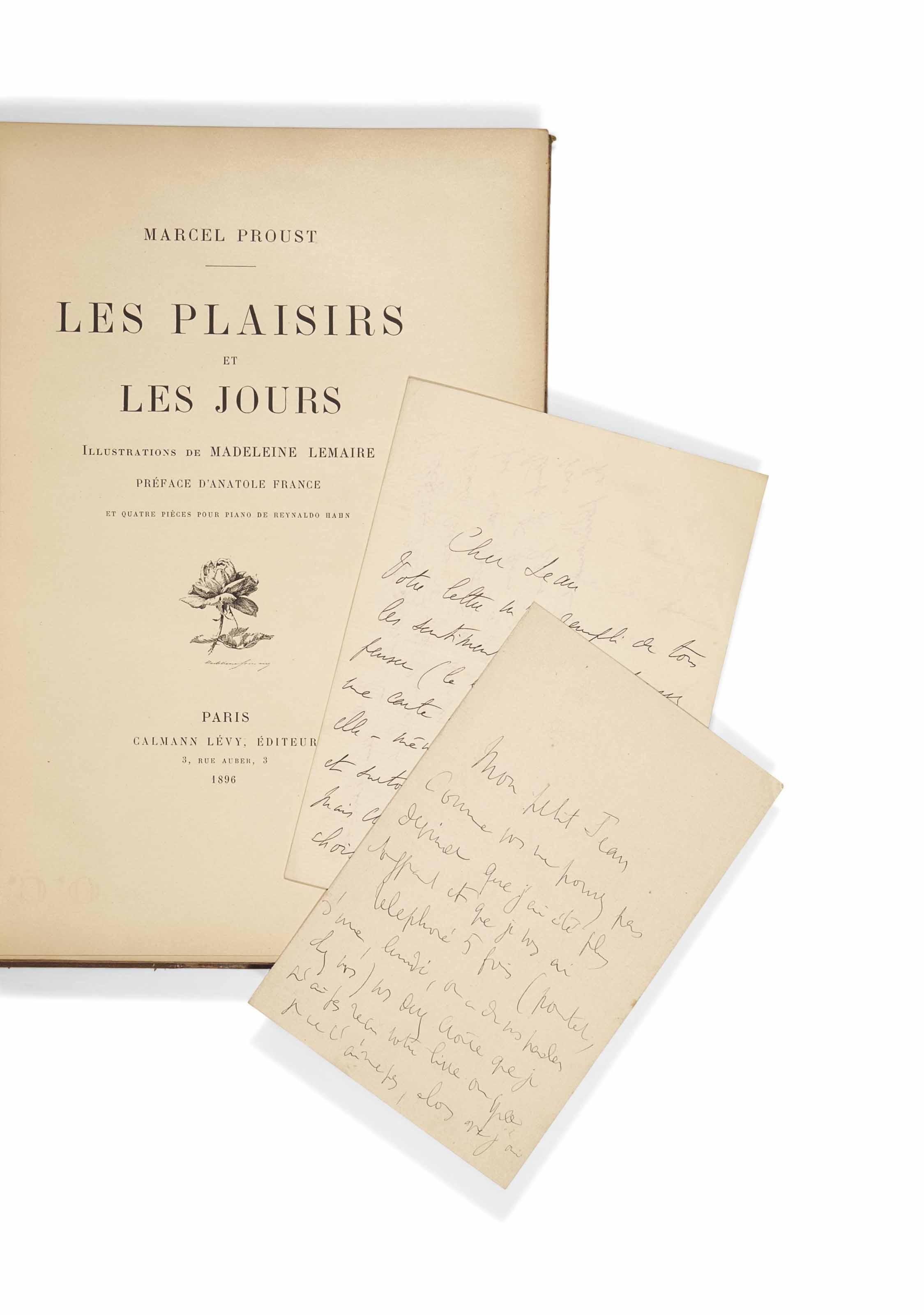 Marcel PROUST (1871-1922). Les