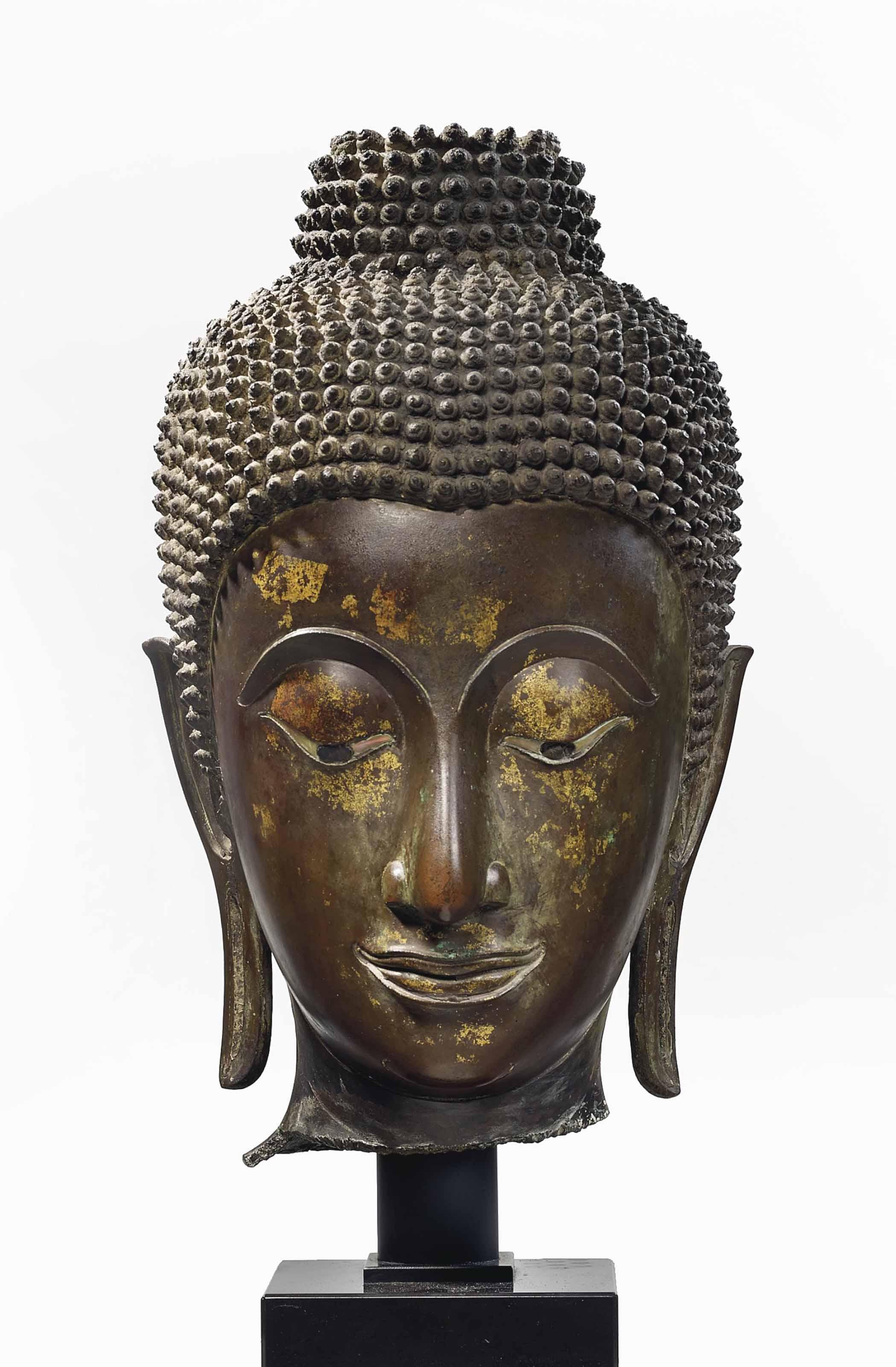 tete de bouddha shakyamuni en bronze thailande epoque ayutthaya xviieme siecle christie 39 s. Black Bedroom Furniture Sets. Home Design Ideas