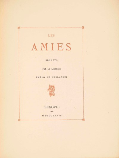 Paul VERLAINE. Les Amies. Sonn