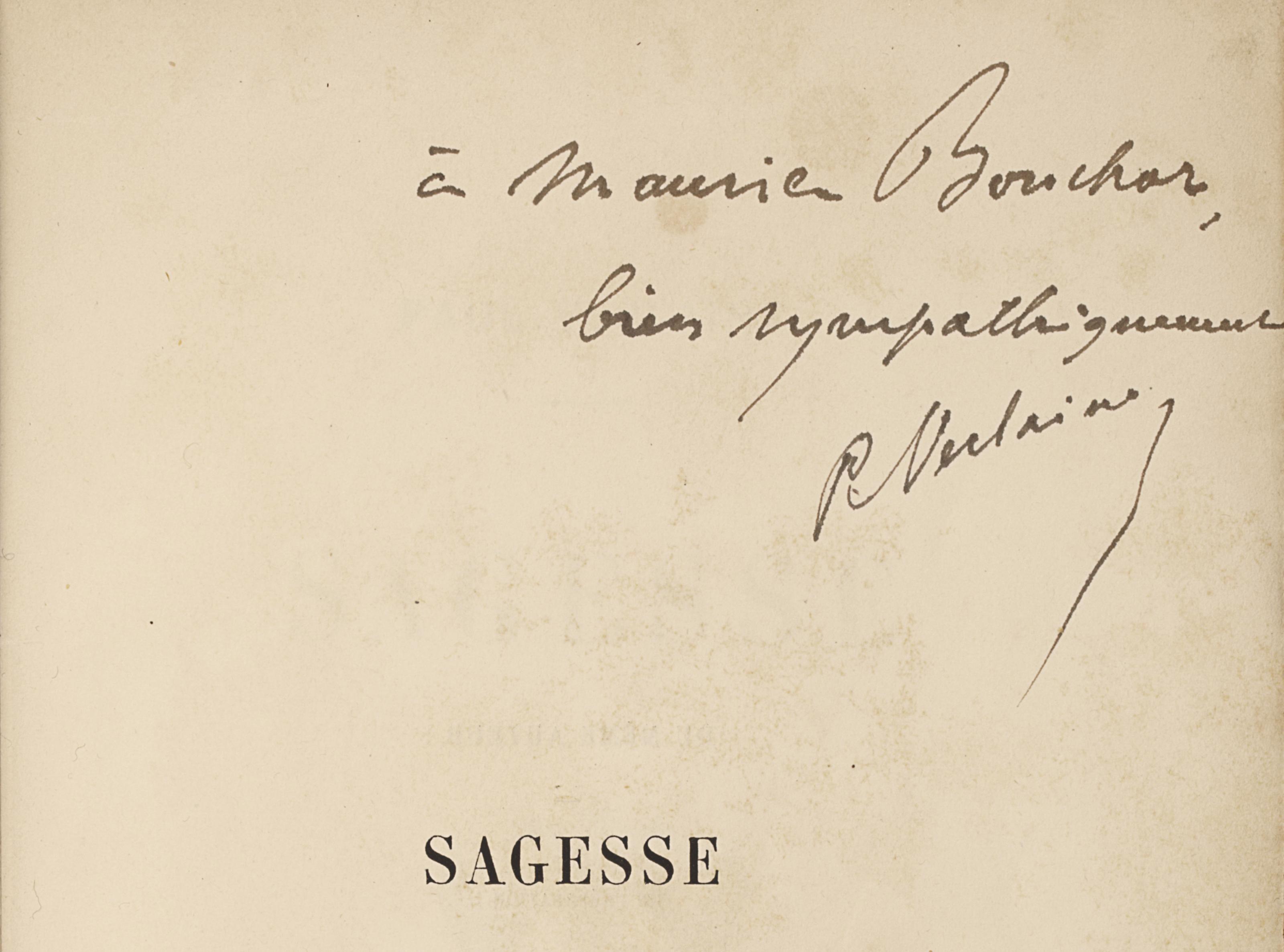 Paul VERLAINE. Sagesse. Paris: