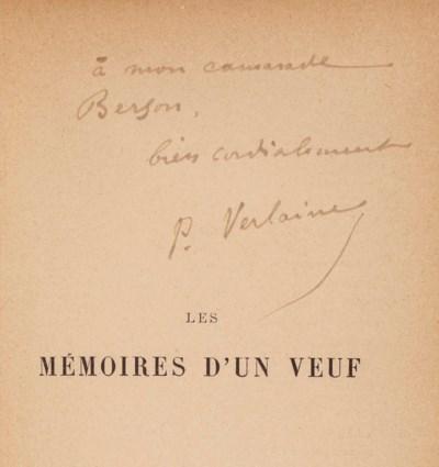 Paul VERLAINE. Les Mémoires d'