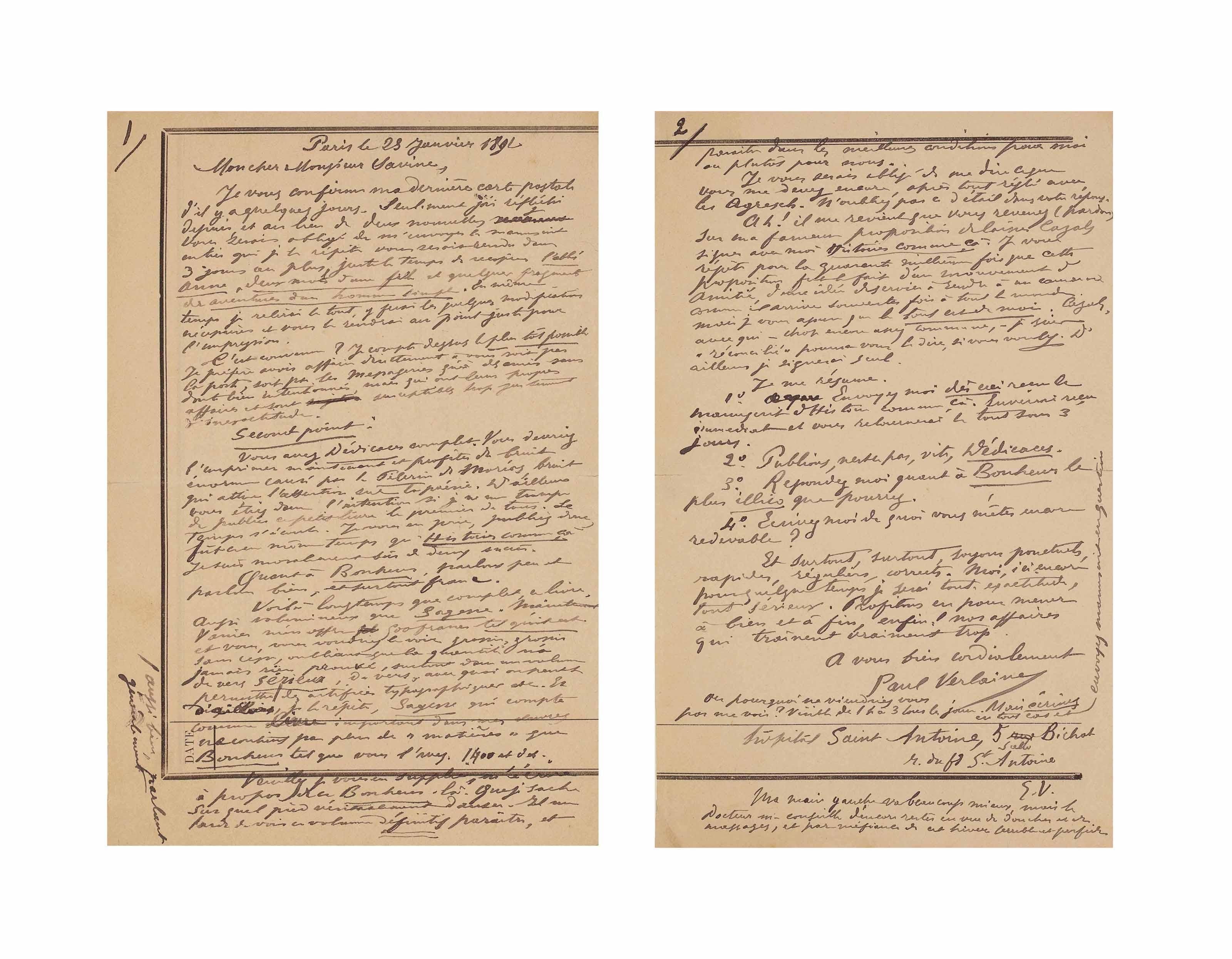 Albert SAVINE. Lettre autograp