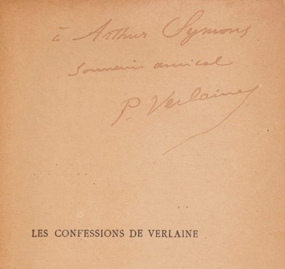 Paul VERLAINE. Confessions. No
