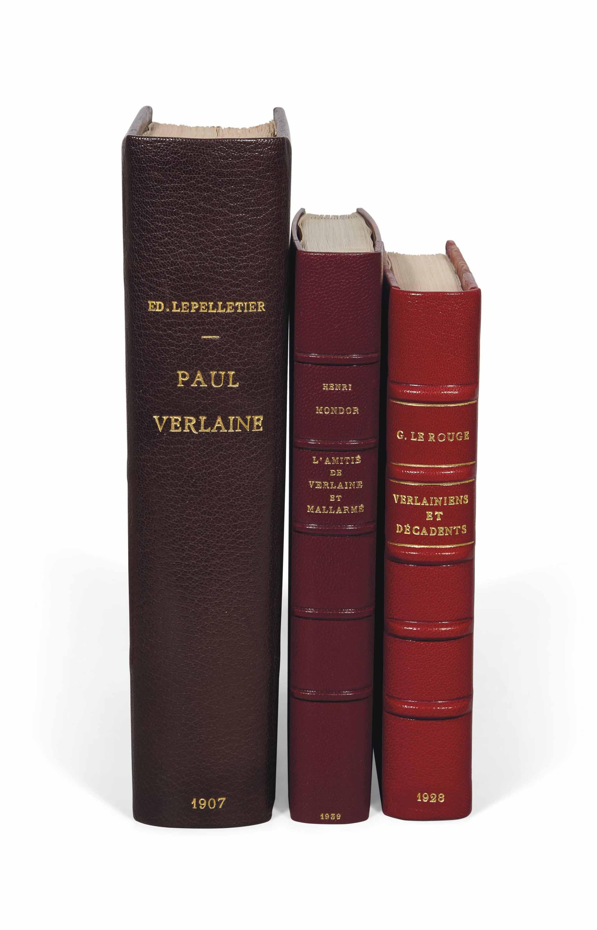 [Paul VERLAINE] -- Réunion de 3 ouvrages sur Verlaine en édition originale.