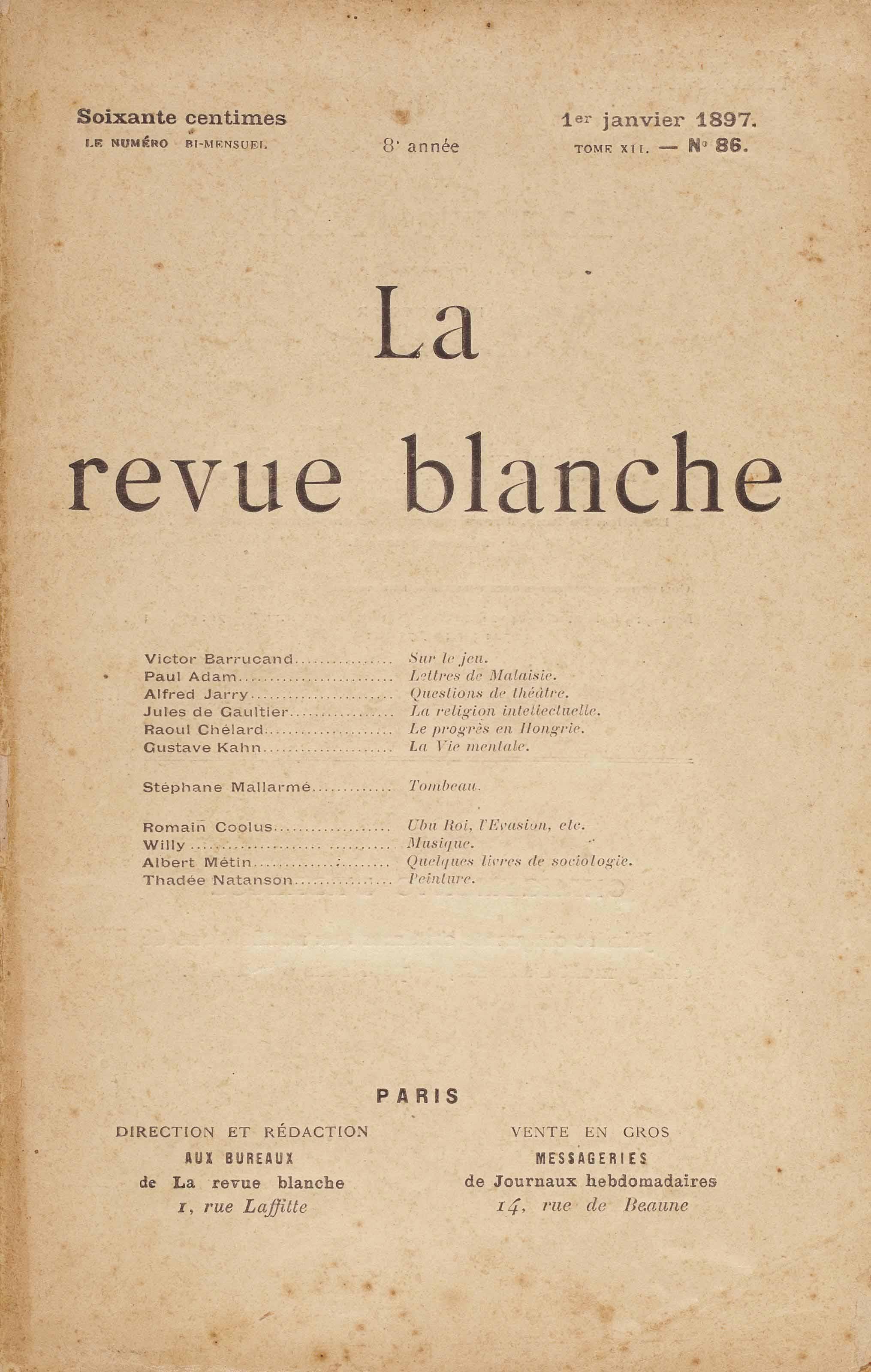 Stéphane MALLARMÉ. Le Tombeau