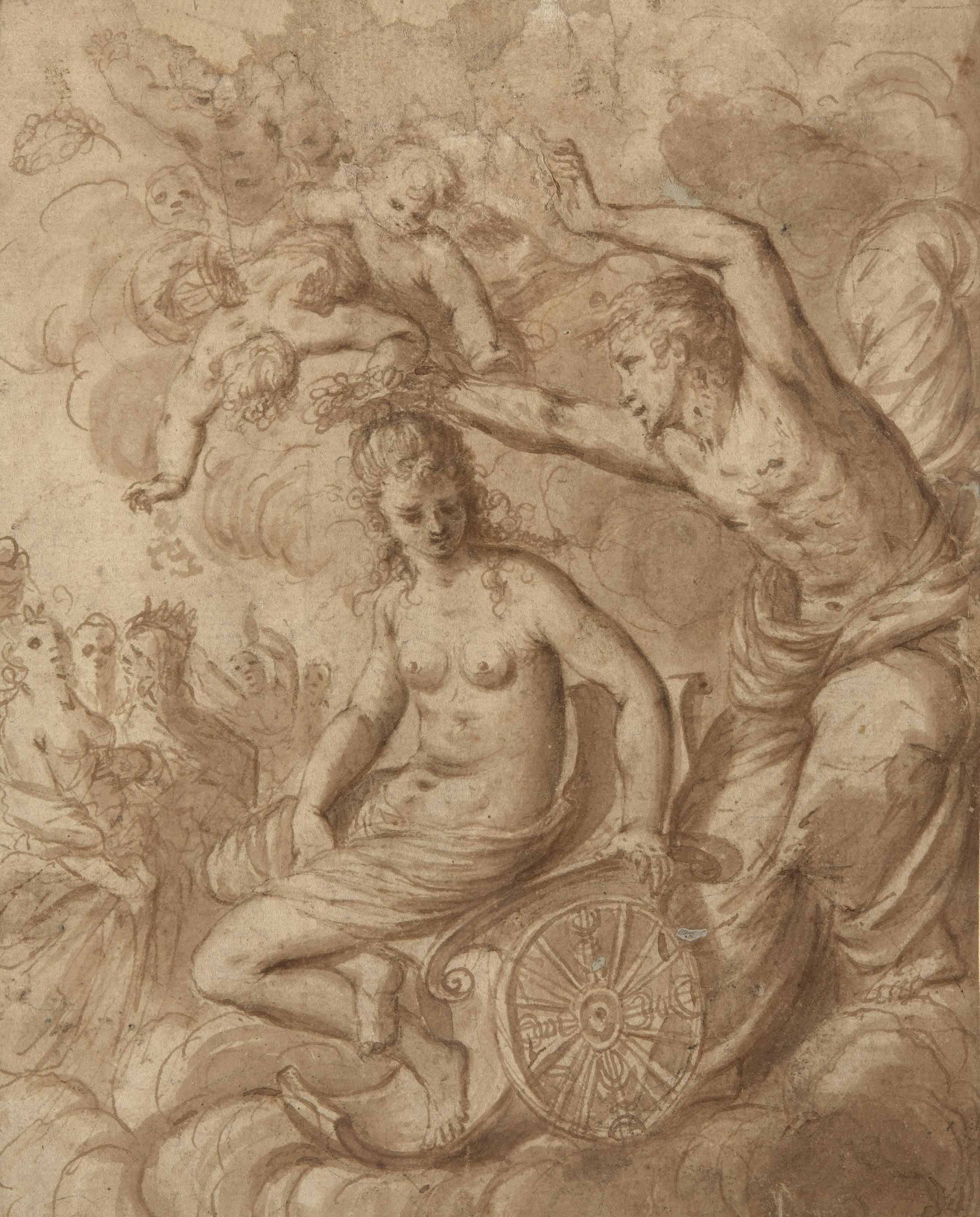 Couronnement d'une déesse sur son char