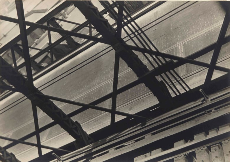 Walker Evans (1903-1975), Abstraction — Brooklyn Bridge, circa 1928-1929. 15.6 x 22  cm (6⅛ x 8⅝  in). Sold for €17,500 on 13 November 2014  at Christie's in Paris