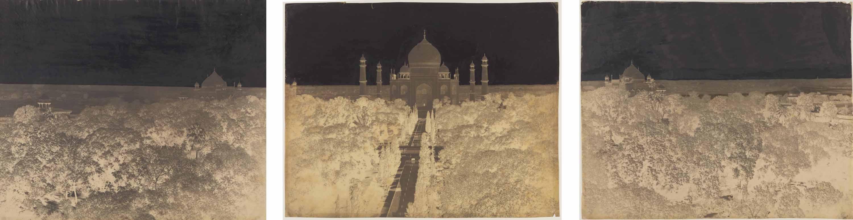 Taj Mahal Panorama, tryptique, 1864