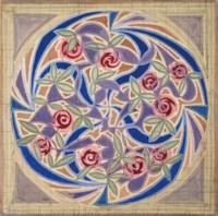 Vortice di rose - Motivo per tappeto