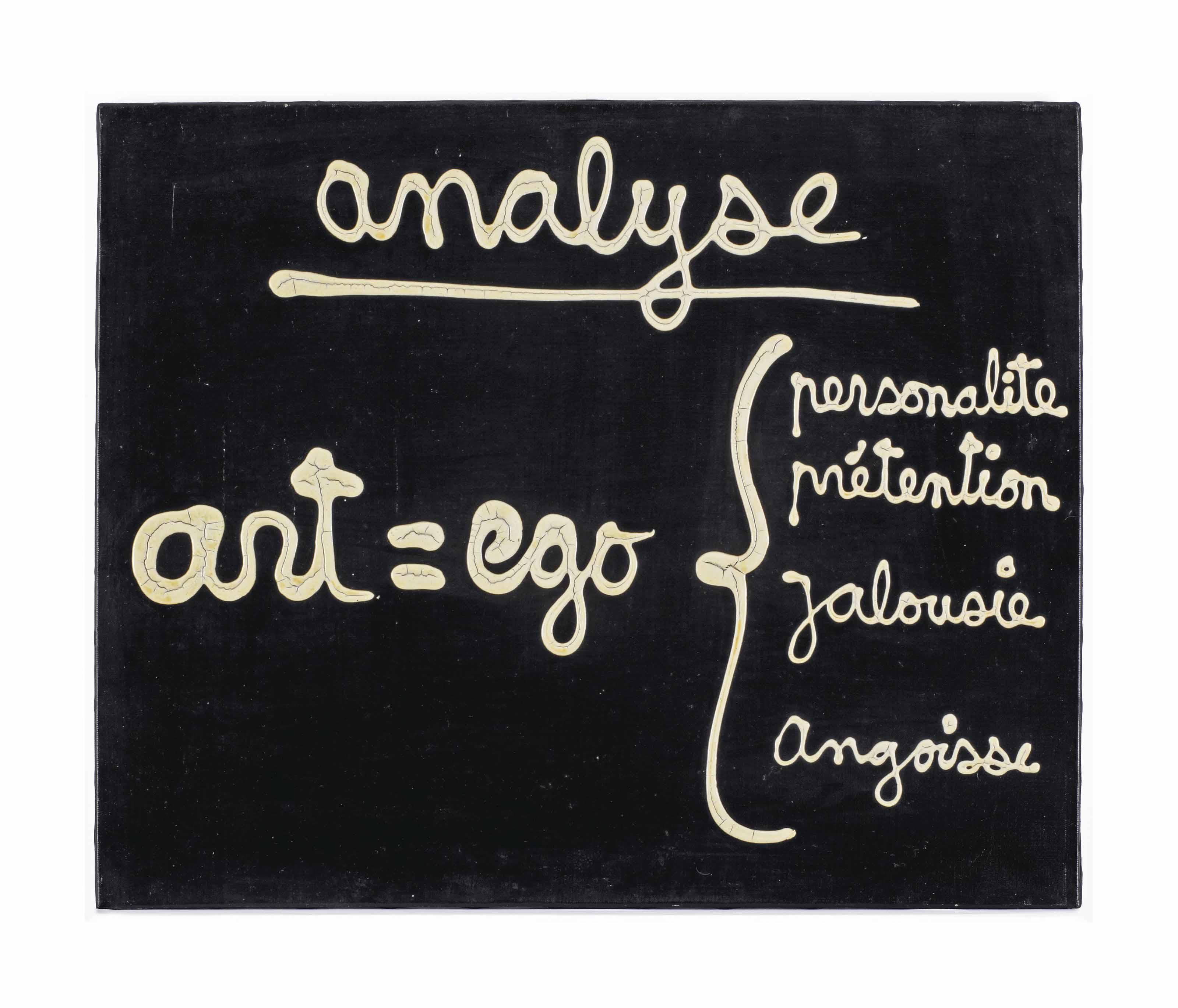 Analyse. Art = Ego
