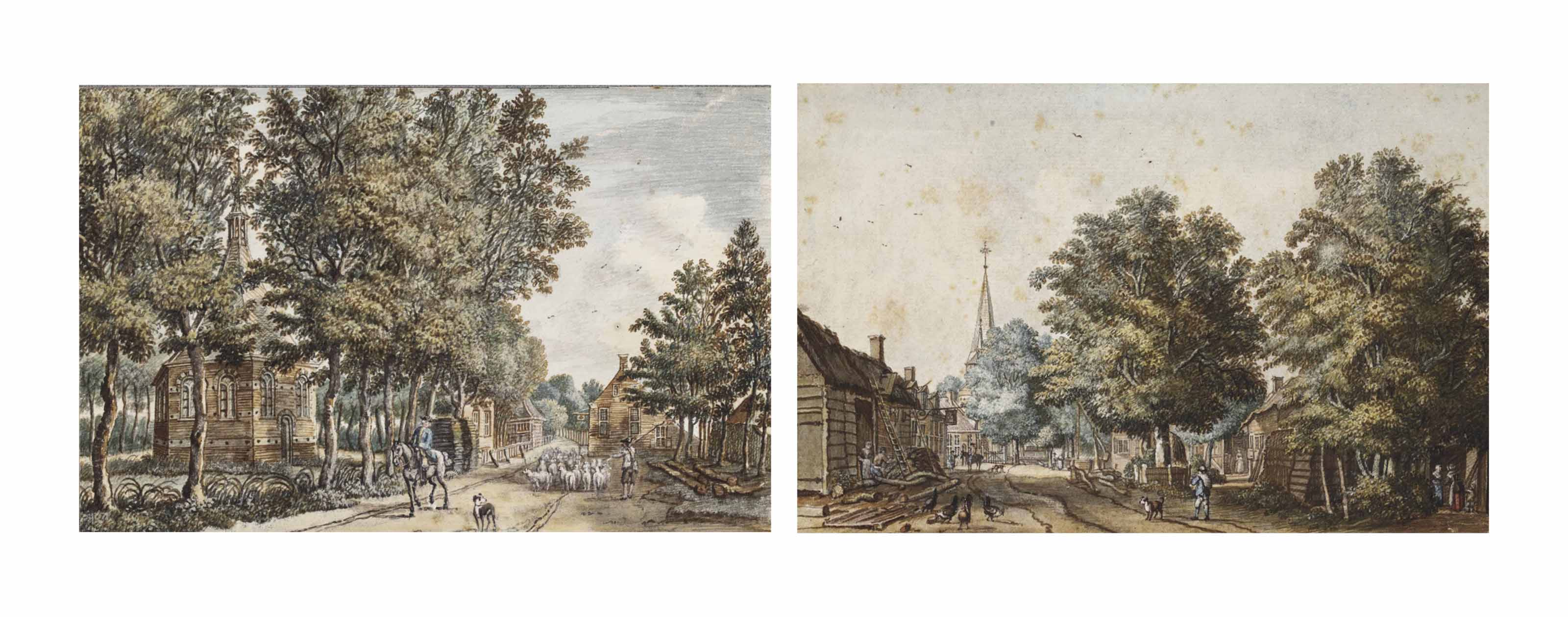 View of Doorn; and View of the Petronella Chapel at Driebergen
