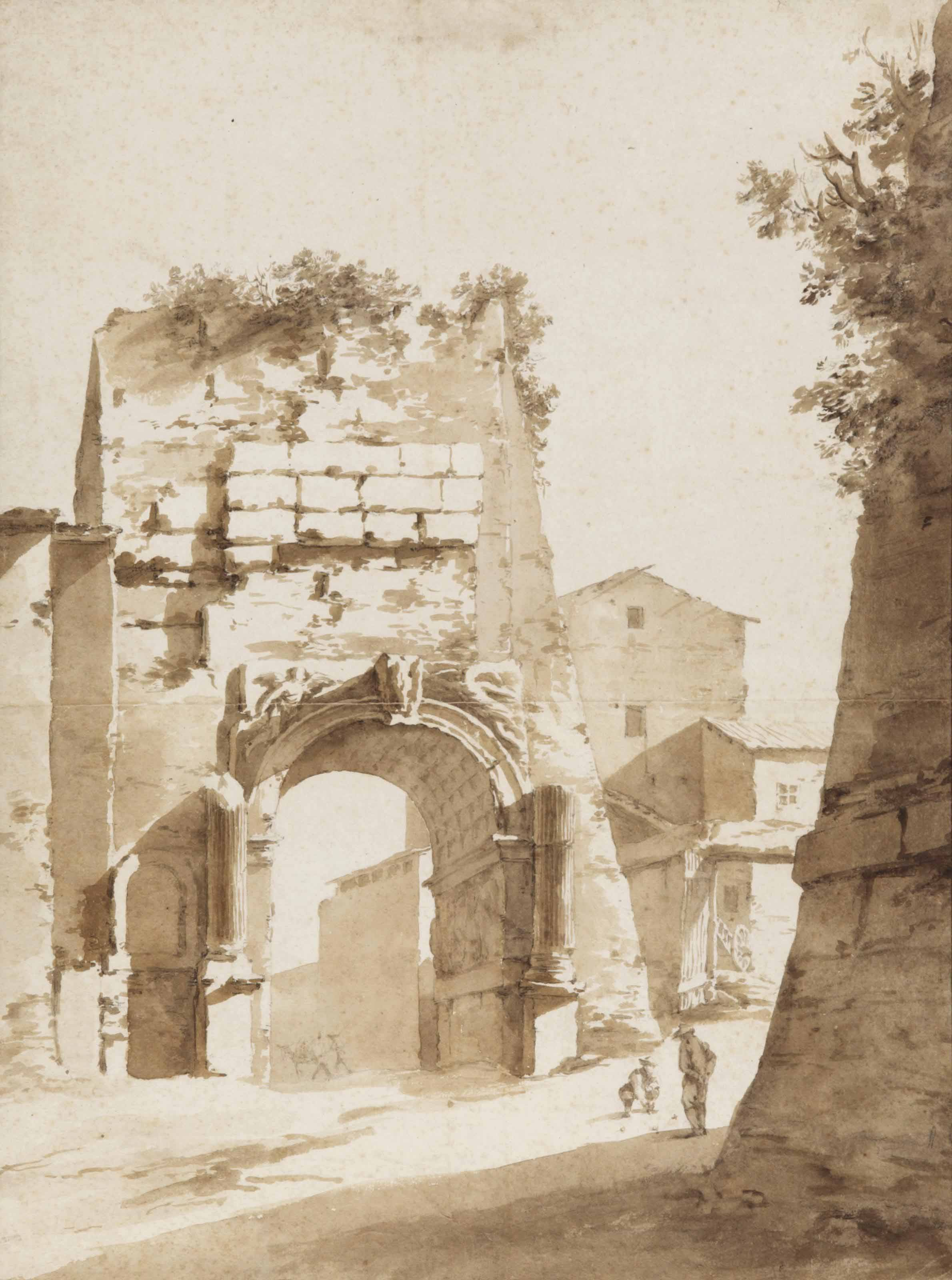 The Arch of Titus, Rome, after Jan Both