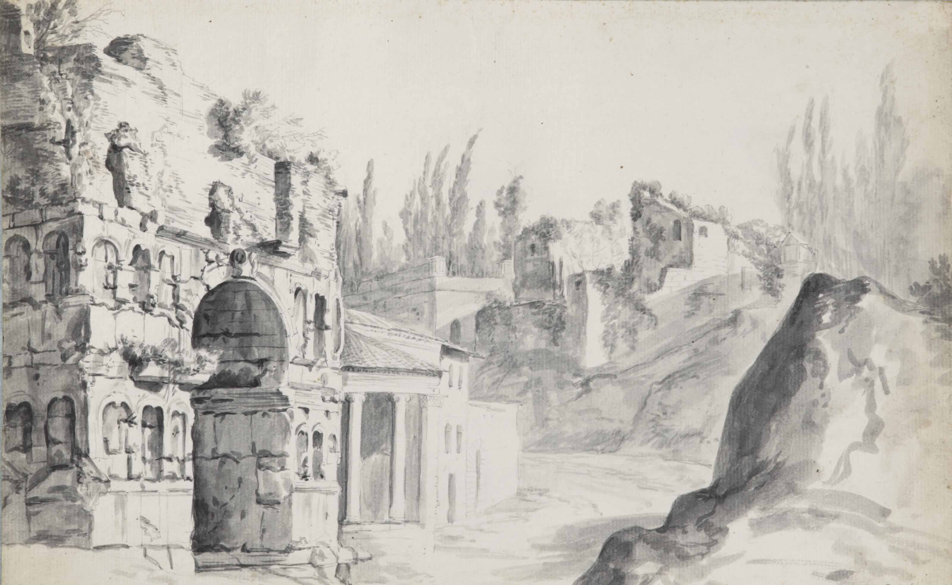The Arch of Janus Quadrifons in Rome