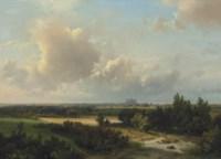 Gezigt in de omstreken van Haarlem: a panoramic view of Haarlem