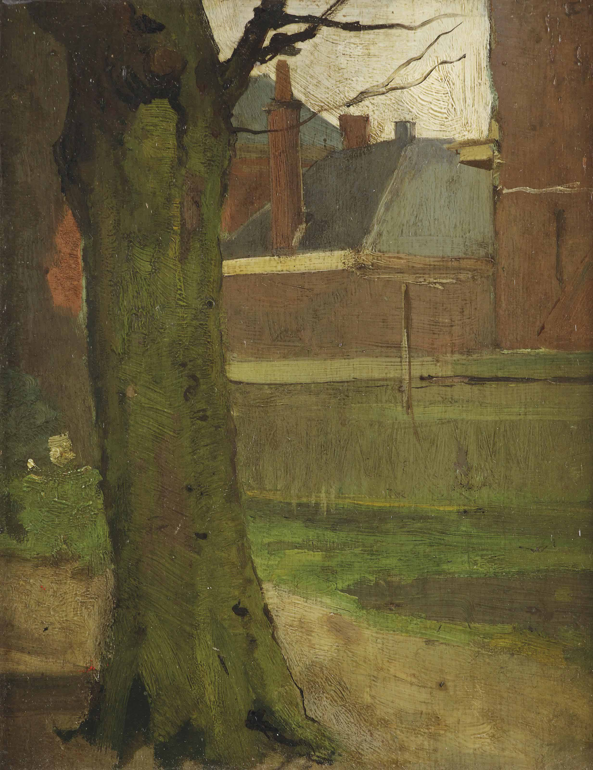 The artist's garden on Rapenburg 40, Leiden