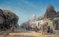 A bustling day in the streets of Cairo