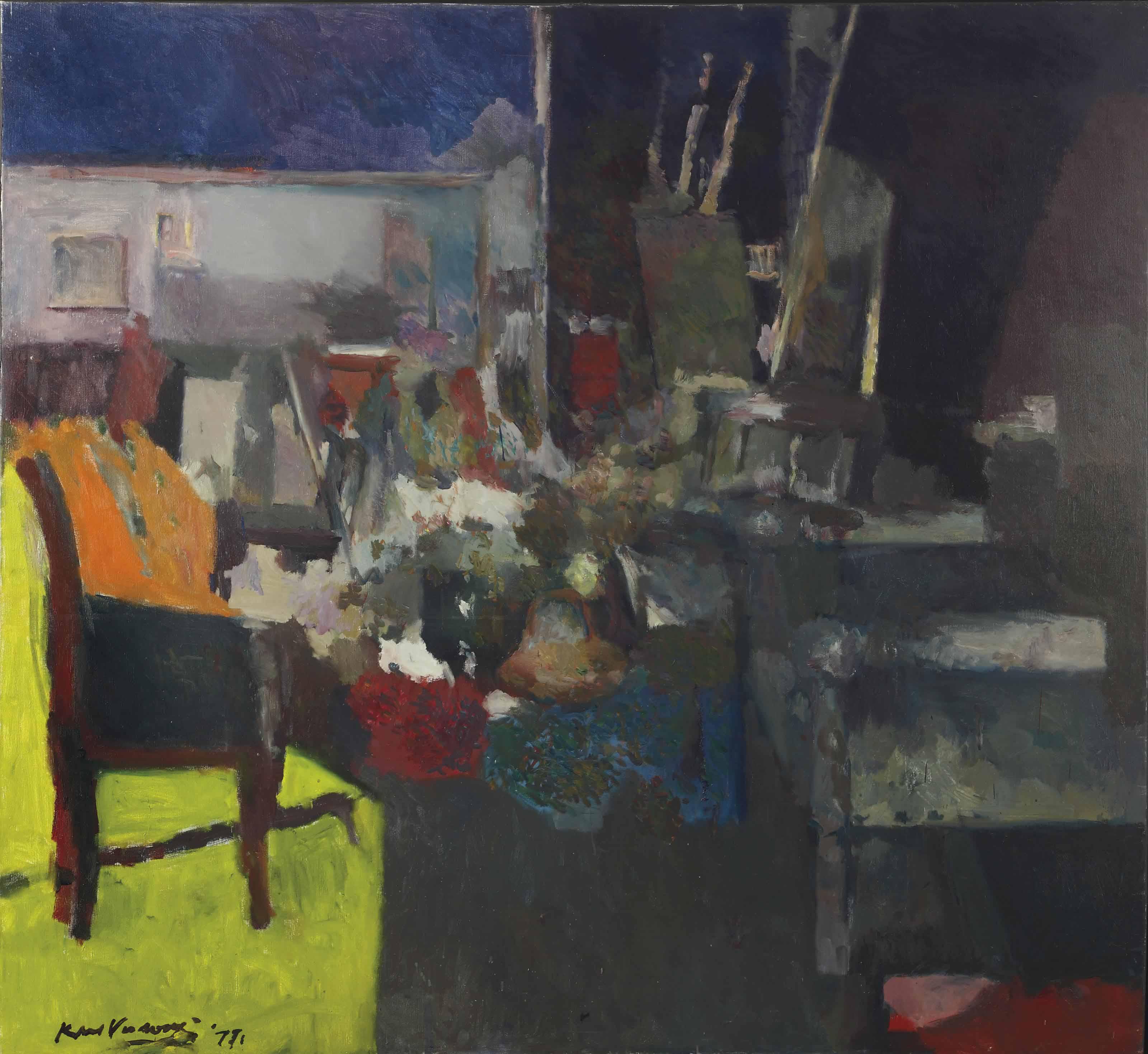 De stoel in de zon (atelier impressie)