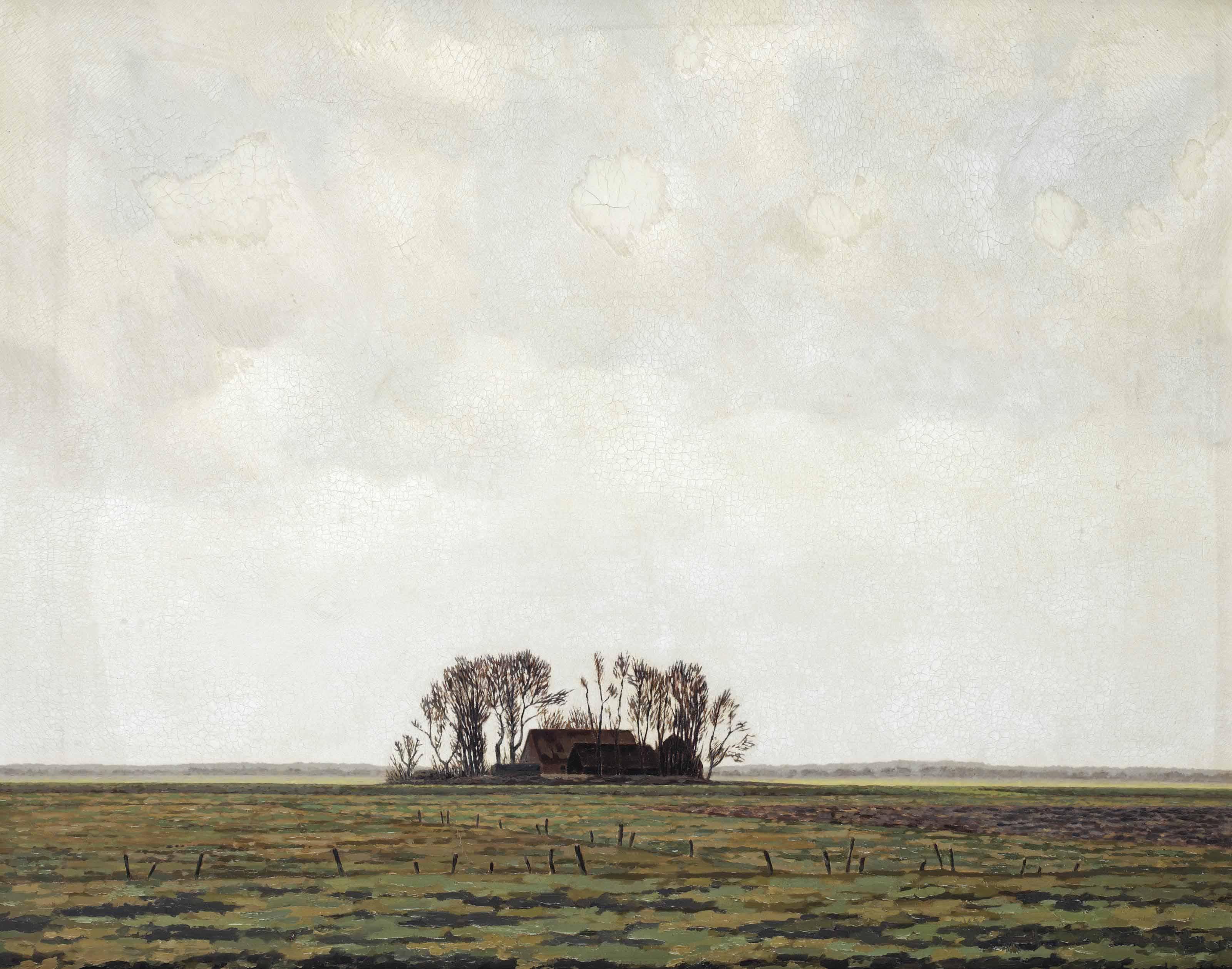 Landschap (boerderij in Eempolder)