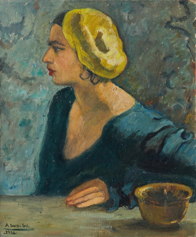 Amrita Sher-Gil (1913-1941), Untitled (Self Portrait), 1931. Oil on canvas. 25⅝ x 21¼ in (65.1 x 54 cm). Sold for £1,762,500 on 10 June 2015 at Christies in London