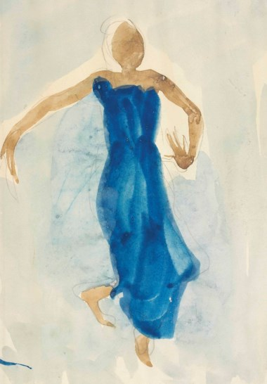 Auguste Rodin (1840-1917), Danseuse cambodgienne, executed in 1906-1907. 11⅞ x 7⅞ in (30 x 20 cm). Sold for £110,500 on 5 February 2015 at Christie's in London