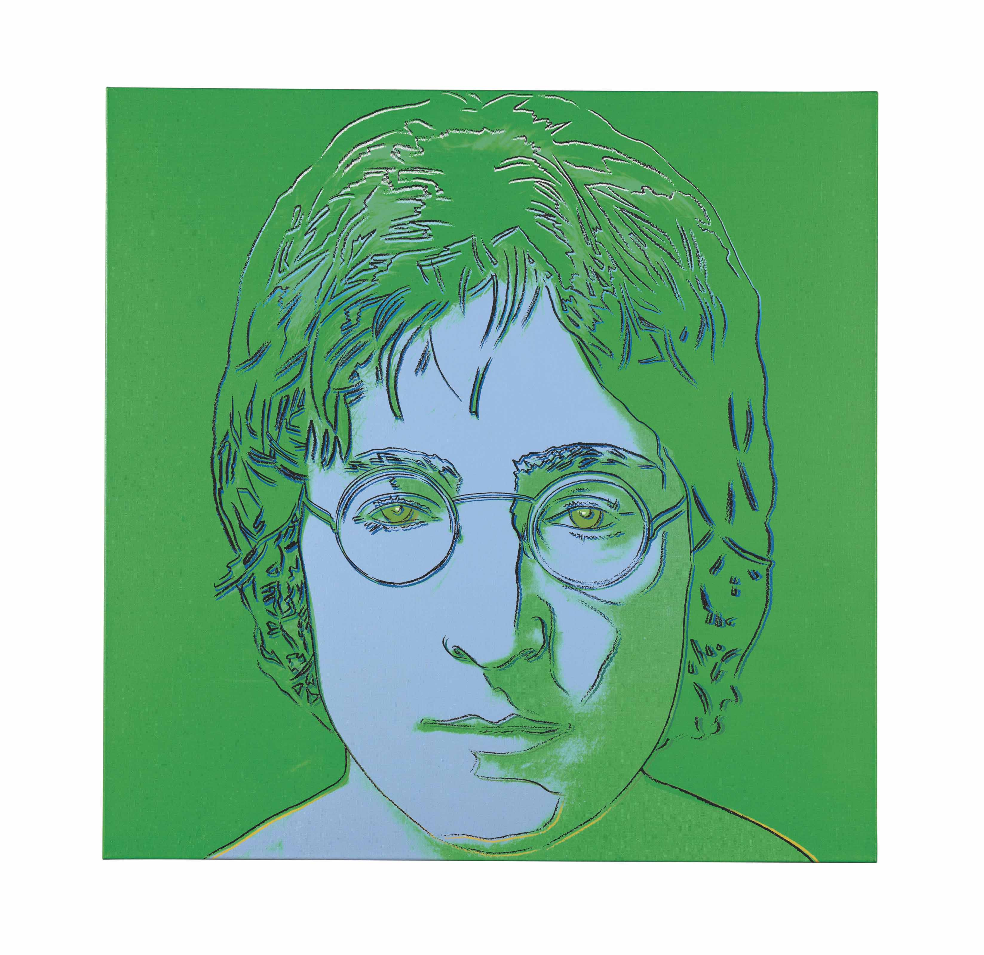 Andy Warhol 1928 1987 John Lennon Green 1980s Paintings Christie S