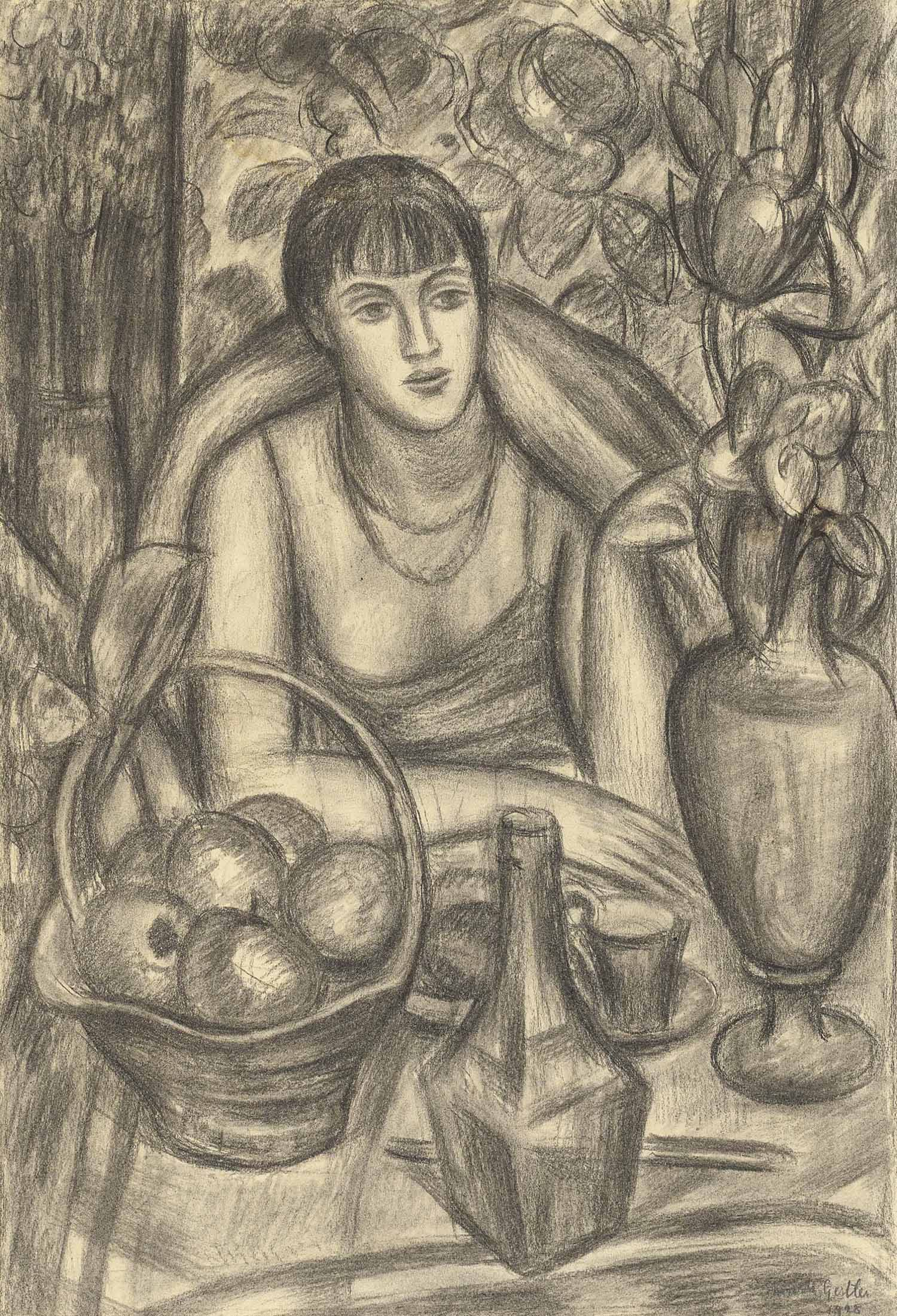 Supper, Study for Portrait of Natalie Denny