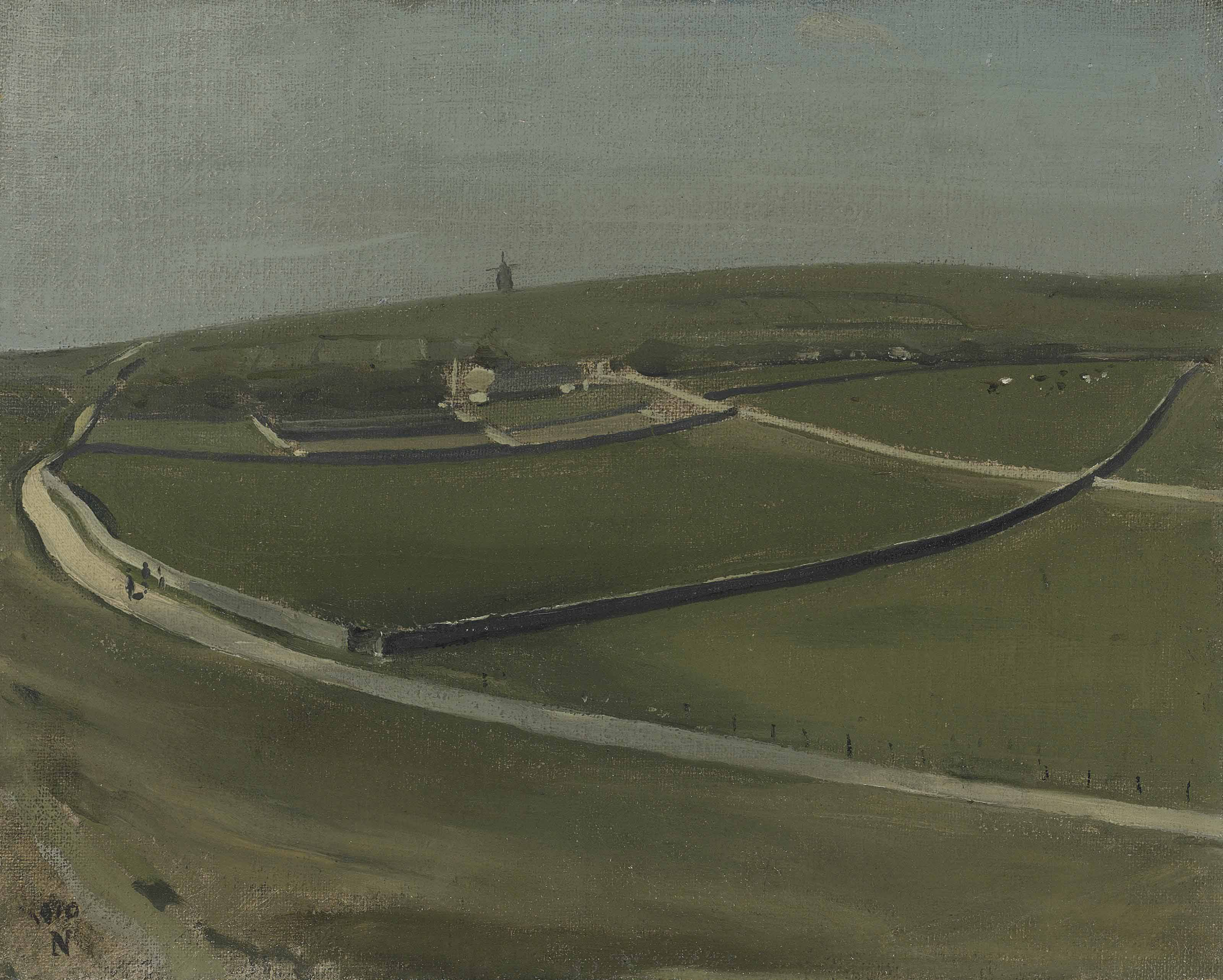 The Downs with Distant Windmill, Rottingdean