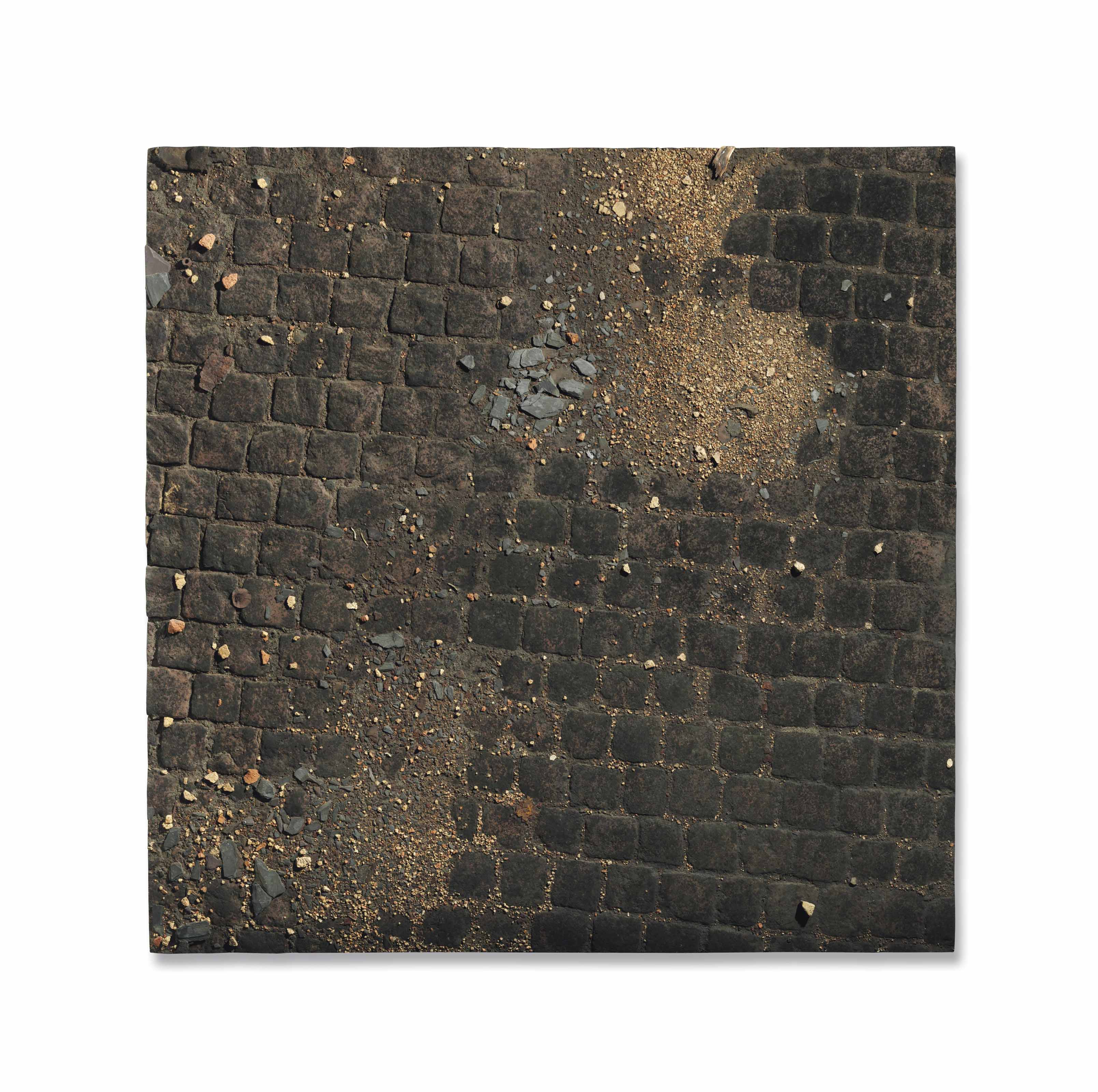 Red Causeway Series: Study of red cobbles and broken slate