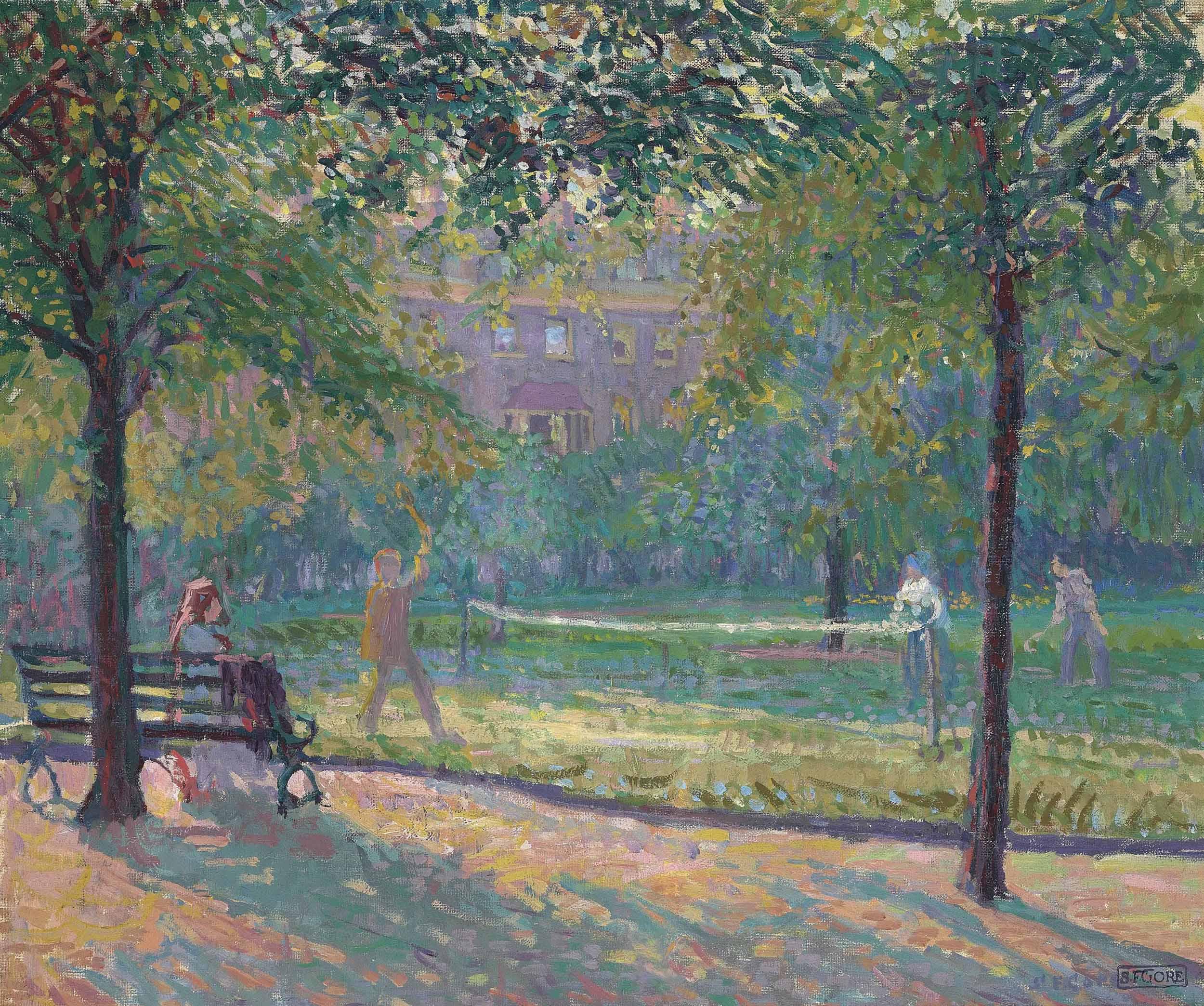 Tennis in Mornington Crescent Gardens