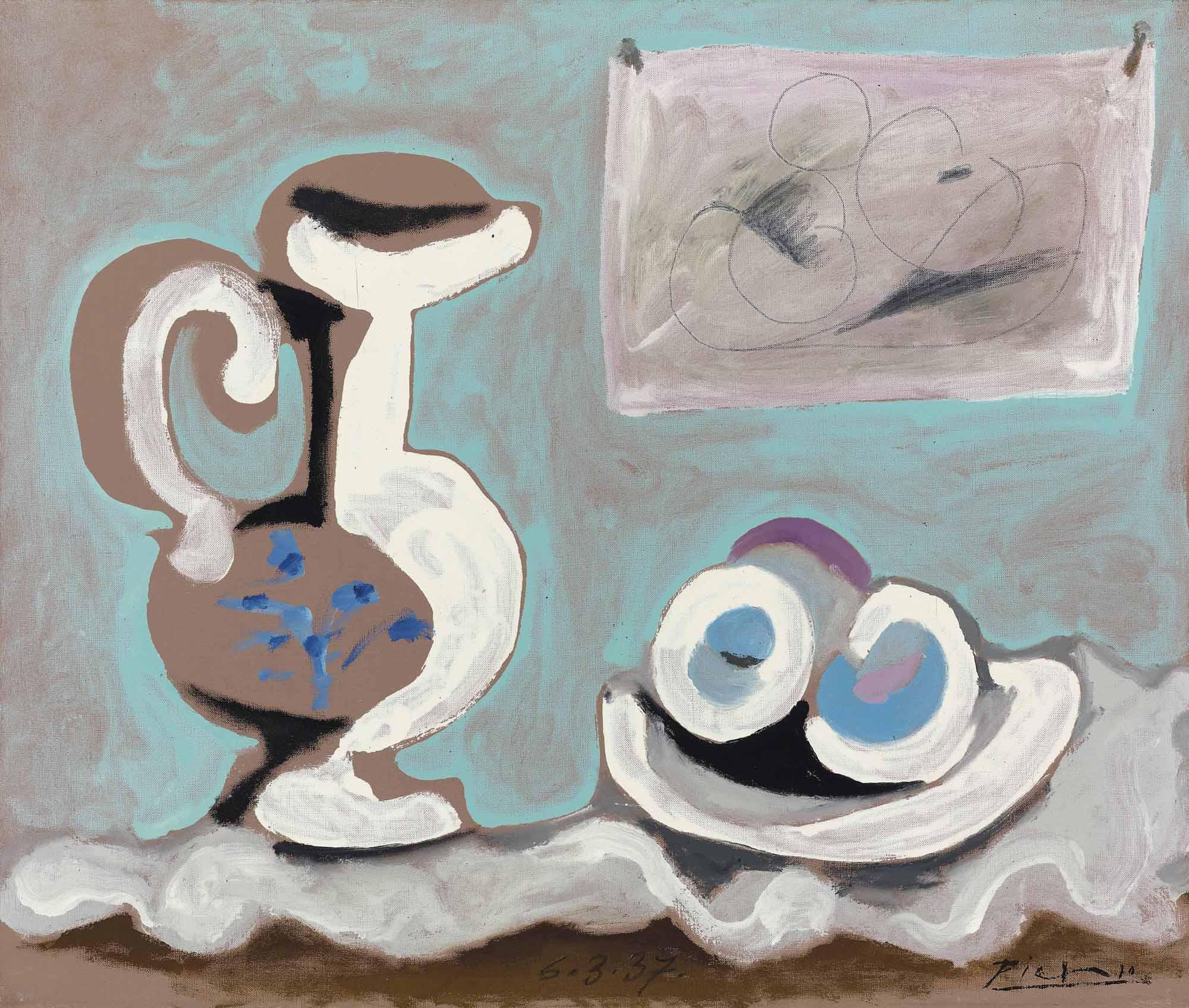 Pablo Picasso (1881-1973) | Nature morte à la cruche | 1930s ...