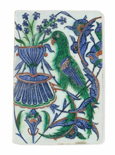 AN IZNIK POTTERY TILE