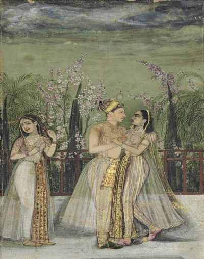 A PRINCE HOLDS A COURTESAN IN