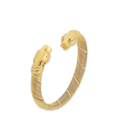 A 'PANTHERE' BANGLE, BY CARTIE