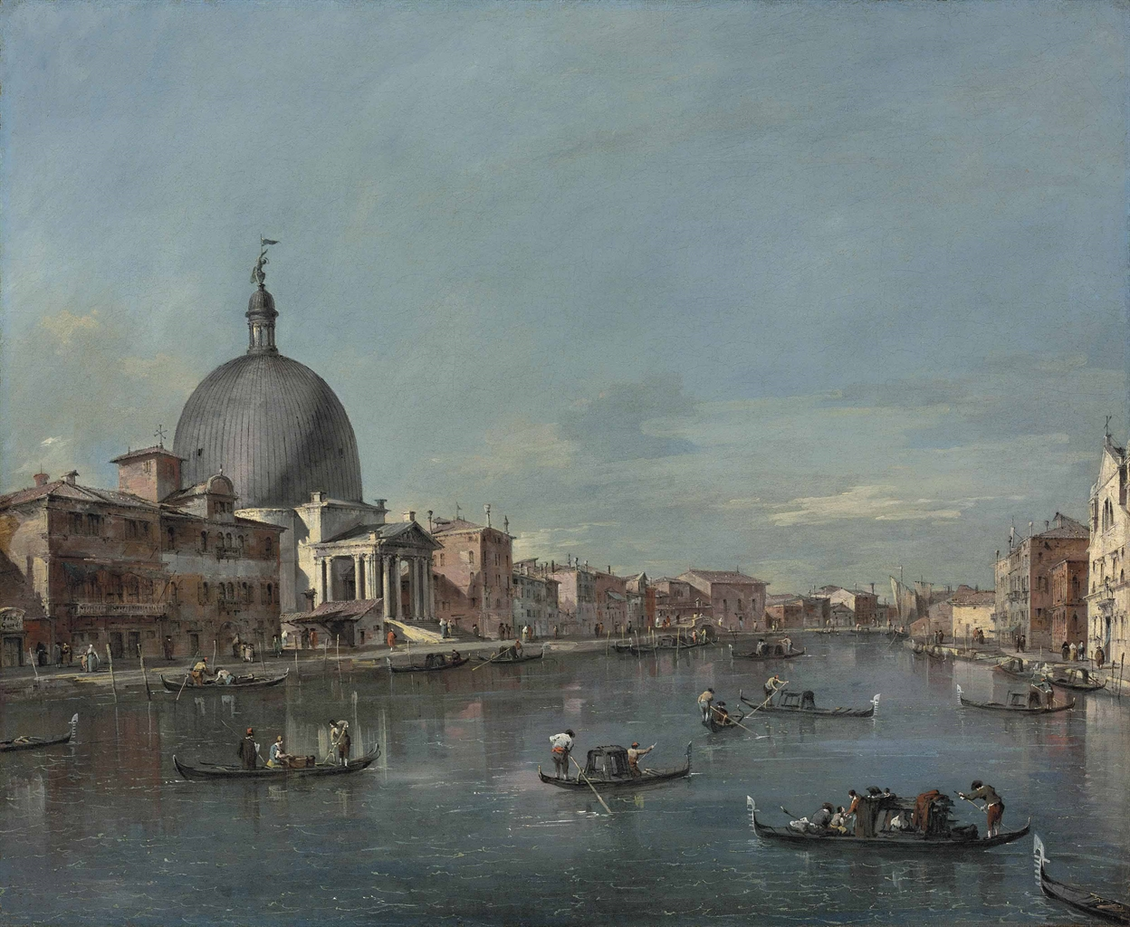 The Grand Canal, Venice, with San Simeone Piccolo