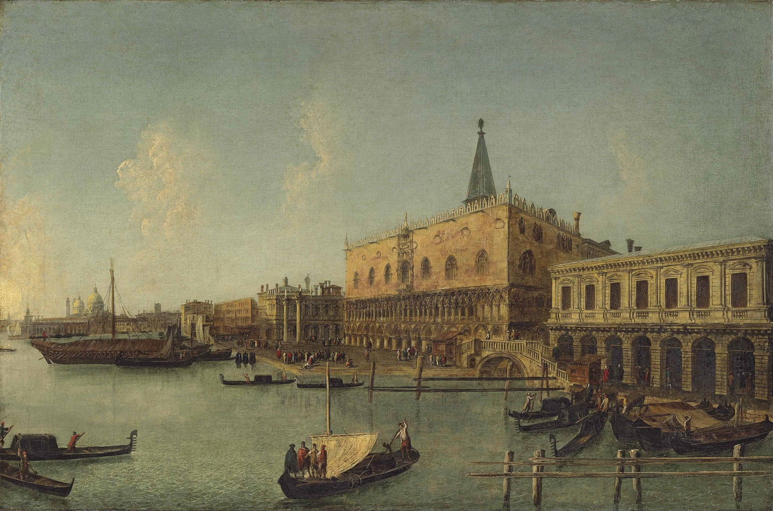 The Bacino di San Marco, Venice, with the Doge's Palace
