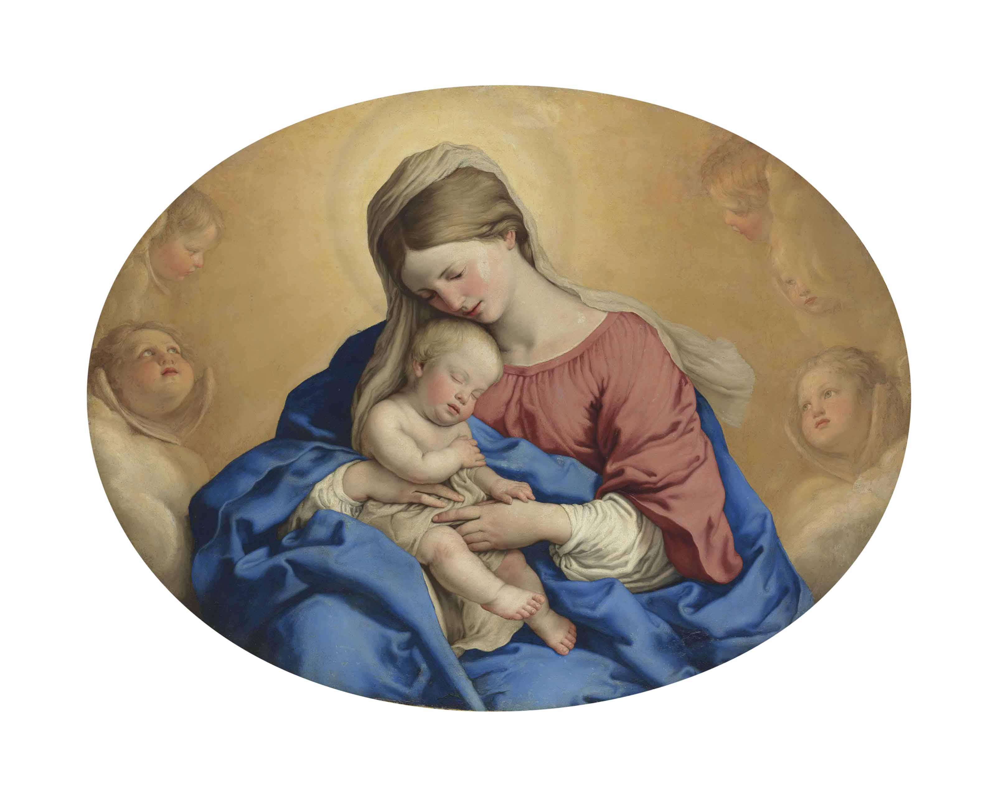 The Madonna and Child with Cherubim