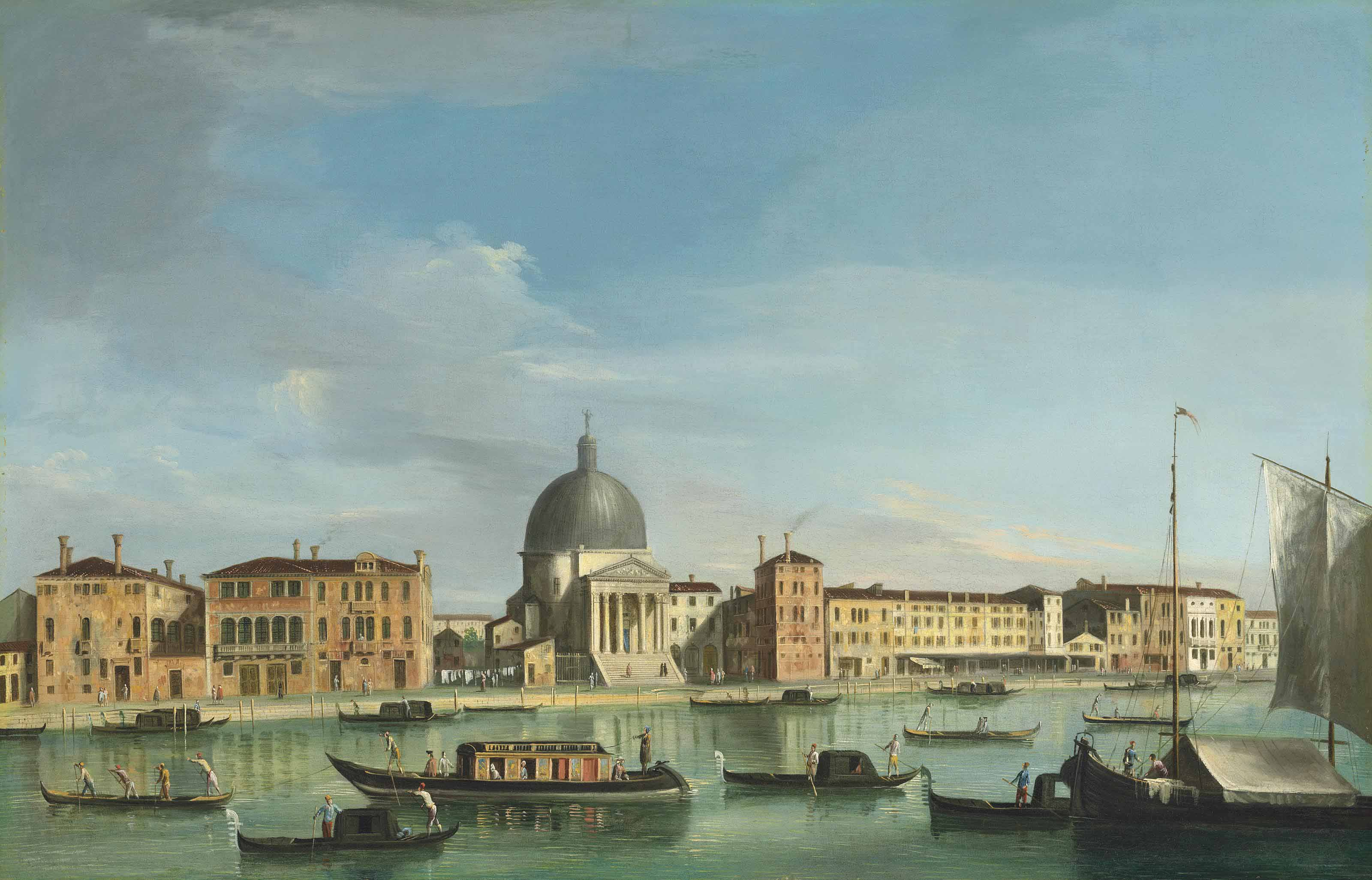 The Grand Canal, Venice, looking west towards San Simeone Piccolo