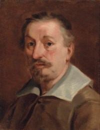 Portrait of the artist, bust-length, in a brown doublet