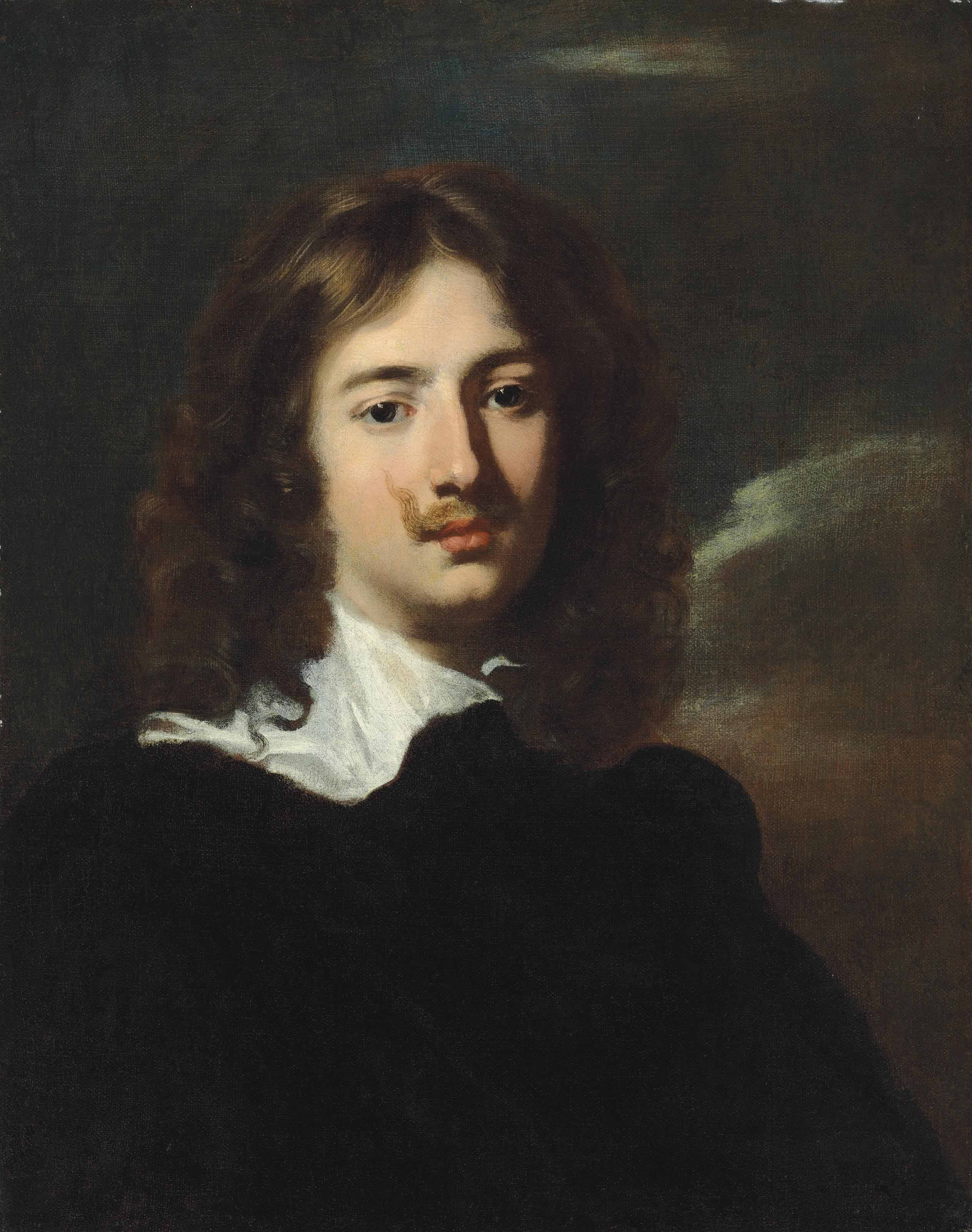 Portrait of a gentleman, bust-length, in a black doublet and white collar