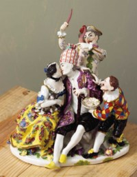 A MEISSEN GROUP OF 'THE MOCKERY OF AGE'