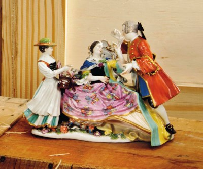 A MEISSEN GROUP OF THE 'MARCHA