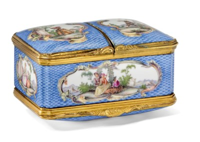 A MEISSEN GILT-METAL-MOUNTED R