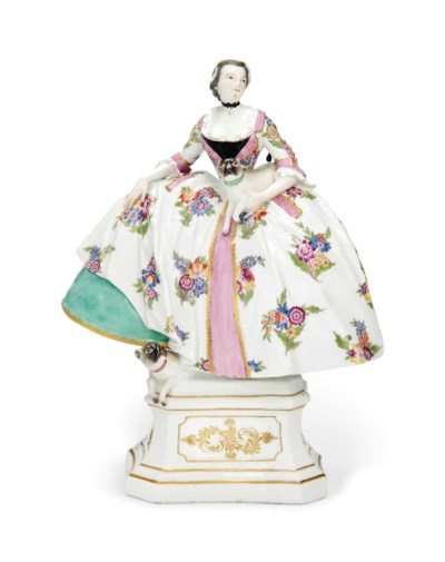 A MEISSEN FIGURE OF A LADY OF