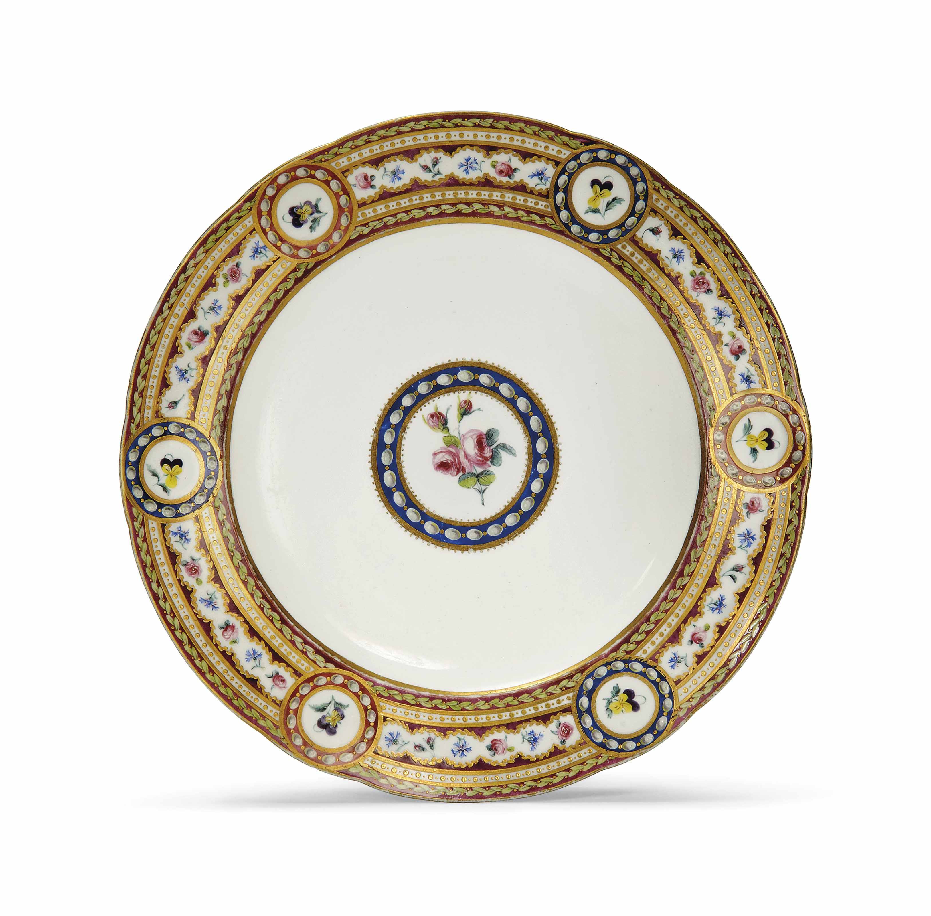 A SEVRES PLATE FROM THE 'SERVI