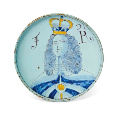 AN ENGLISH DELFTWARE SMALL ROY