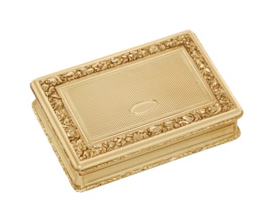 A GERMAN GOLD SNUFF-BOX