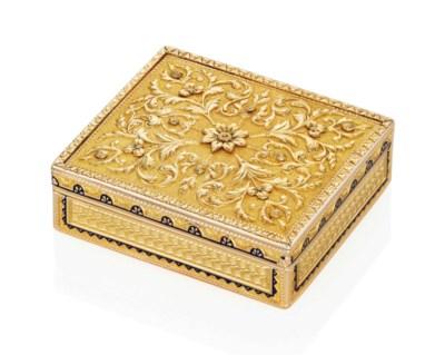 A SWISS ENAMELLED GOLD PILL-BO